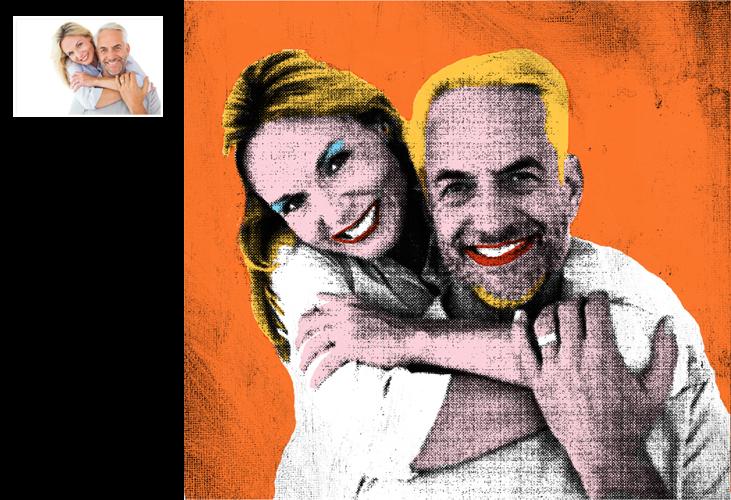 Catalog - Warhol style portraits