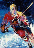 Leroy Neiman oil portrait
