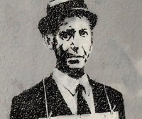 Banksy oil portrait