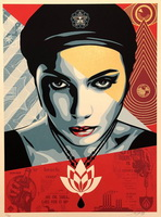 Shepard Fairey oil portrait