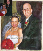 Wedding Art Portrait